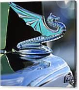 1934 Aftermarket Chevrolet Hood Ornament Canvas Print