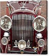 1934 Bentley 3.5-litre Drophead Coupe Grille Canvas Print