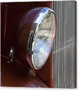 1934 Ford Headlight And Grill Canvas Print