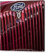 1934 Ford V8 Emblem 2 Canvas Print