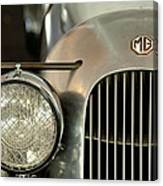 1934 Mg Pa Midget Supercharged Special Speedster Grille Canvas Print