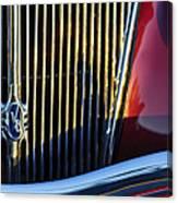 1936 Ford Phaeton V8 Grille Emblem Canvas Print