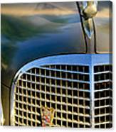 1937 Cadillac Hood Ornament And Grille Canvas Print