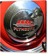 1937 Plymouth Hubcap Canvas Print