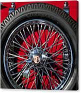 1938 Mg Ta Spare Tire Canvas Print