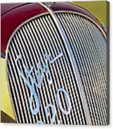 1938 Steyr 220 Glaser Roadster Grille Emblem Canvas Print