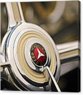 1939 Mercedes-benz 540k Special Roadster Steering Wheel Canvas Print