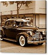 1940 Chevrolet Special Deluxe - Sepia Canvas Print