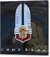 1941 Cadillac Hood Insignia Canvas Print