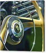 1942 Lincoln Continental Cabriolet Steering Wheel Emblem Canvas Print