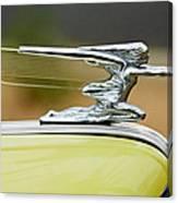 1942 Packard Hood Ornament Canvas Print
