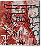 1944 Netherlands De Ruyter Stamp - Rotterdam Cancelled Canvas Print