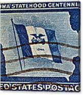 1946 Iowa Statehood Stamp Canvas Print