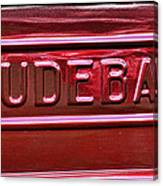 1947 Studebaker Tail Gate Cherry Red Canvas Print