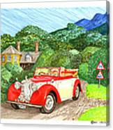 1948 Alvis English Countryside Canvas Print