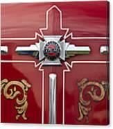 1948 American Lefrance Fire Truck Emblem Canvas Print