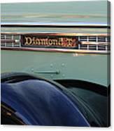 1948 Diamond T Truck Emblem 2 Canvas Print