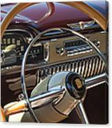 1949 Cadillac Sedanette Steering Wheel Canvas Print