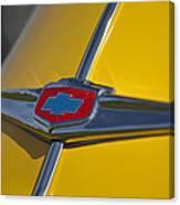 1949 Chevrolet Sedan Hood Emblem Canvas Print