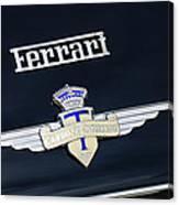 1950 Ferrari Carrozz Touring Milano Emblem Canvas Print