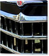 1950 Willys Jeepster Grille Emblem Canvas Print