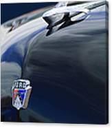 1951 Ford Custom Tudor Sedan Hood Ornament Canvas Print