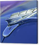 1951 Plymouth Hood Ornament Canvas Print