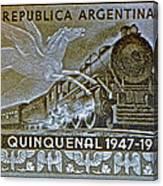 1951 Republica Argentina Stamp Canvas Print