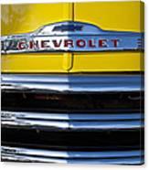 1952 Chevrolet Grille Emblem Canvas Print