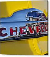 1952 Chevrolet Hood Emblem Canvas Print