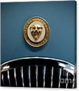 1952 Jaguar Hood Ornament Canvas Print