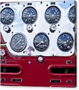 1952 L Model Mack Pumper Fire Truck Controls Canvas Print