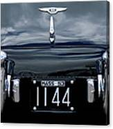 1953 Bentley Rear View License Plate Canvas Print