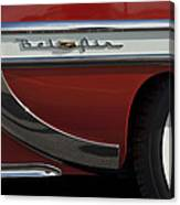 1953 Chevrolet Belair Emblem Canvas Print