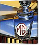 1953 Mg Td Hood Ornament Canvas Print