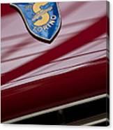1953 Siata 208s Spyder Emblem Canvas Print
