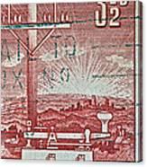 1954 Centenary Of Australian Telegraph Stamp Canvas Print