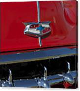 1954 Chevrolet Convertible Hood Emblem Canvas Print