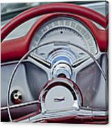 1954 Chevrolet Corvette Steering Wheel Canvas Print