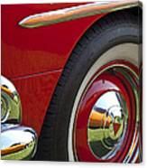 1954 Hudson Hornet Wheel And Emblem Canvas Print