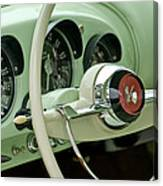 1954 Kaiser Darrin Steering Wheel Canvas Print
