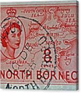 1954 North Borneo Stamp Canvas Print