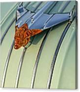 1954 Pontiac Chieftain Hood Ornament Canvas Print