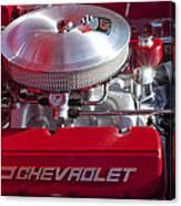 1955 Chevrolet 210 Engine Canvas Print