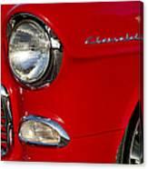 1955 Chevrolet 210 Headlight Canvas Print