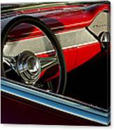1955 Chevrolet 210 Steering Wheel Canvas Print