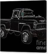 1955' Chevrolet 3100 350 V8 Canvas Print