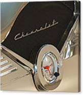 1955 Chevrolet Belair Clock Canvas Print