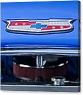 1955 Chevrolet Belair Hood Emblem 4 Canvas Print