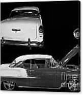 1955 Chevy Bel Air 2 Door Hard Top Canvas Print